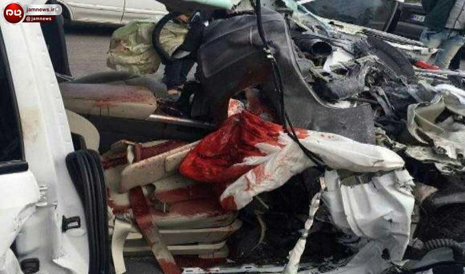 تصادف وحشتناک تریلی با راننده خواب آلود